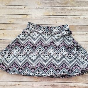 PINK cotton geometric soft skirt